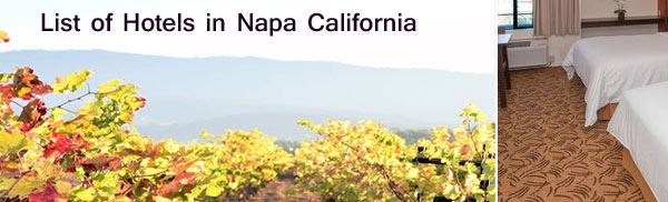 Hotels in Napa California
