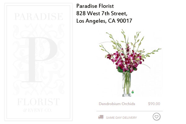 Paradise Florist Los Angeles