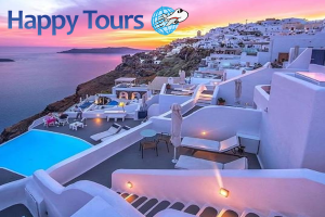 lax to santorini vacation packages