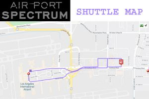 Airport Spectrum LAX SHUTTLE MAP