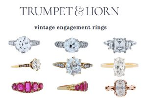 Trumpet & Horn : Vintage Engagement Rings Los Angeles
