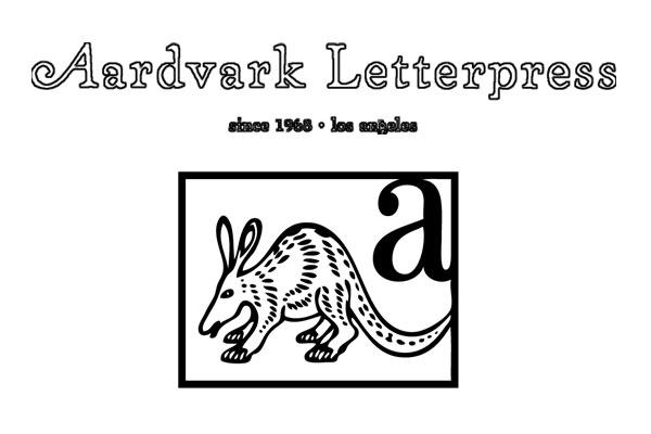 Aardvark Letterpress wedding invitation printing Los Angeles