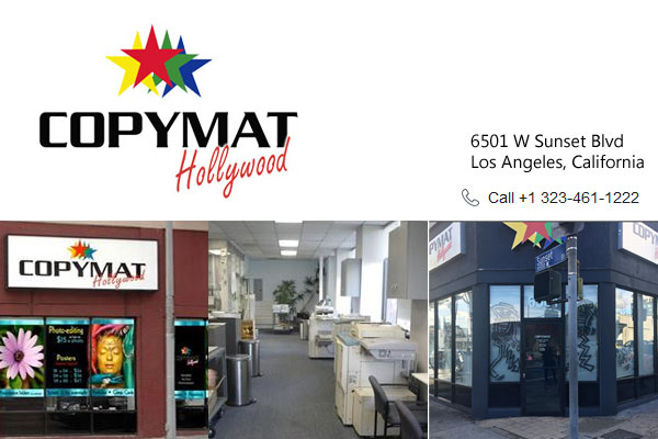 Copymat Hollywood Los Angeles CA