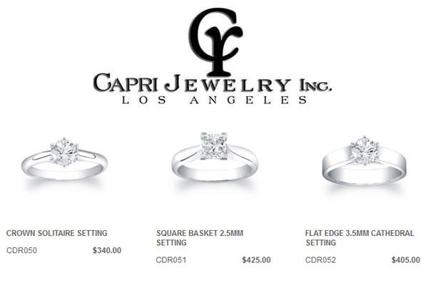 Solitaire Engagement Rings Capri Jewelry LA