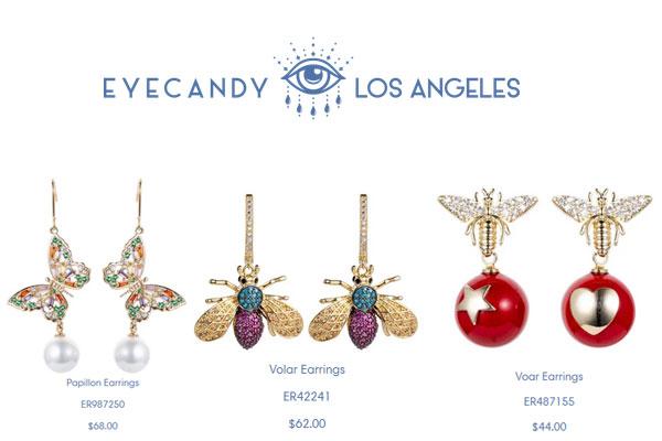 eye candy la butterfly earrings