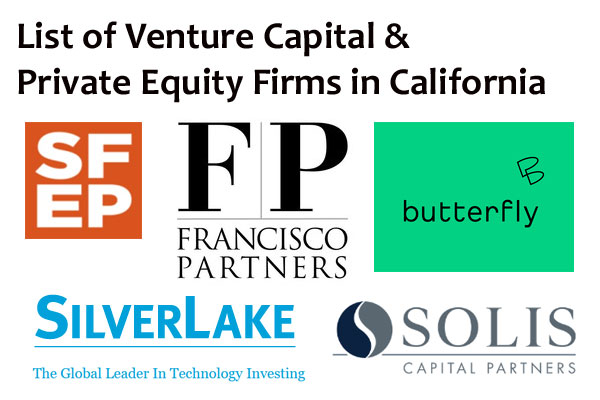 List of Private Equity Firms in California
